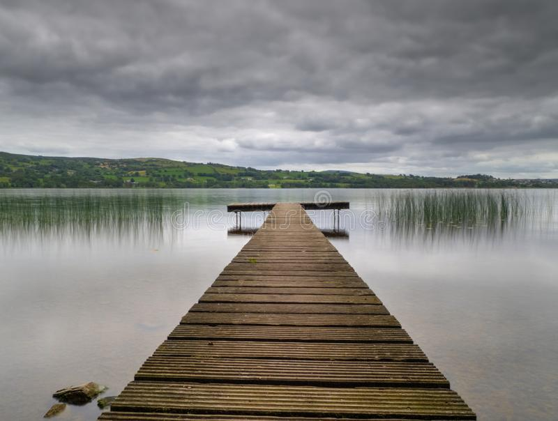 Fishing Stand on Lough Derg stock photos