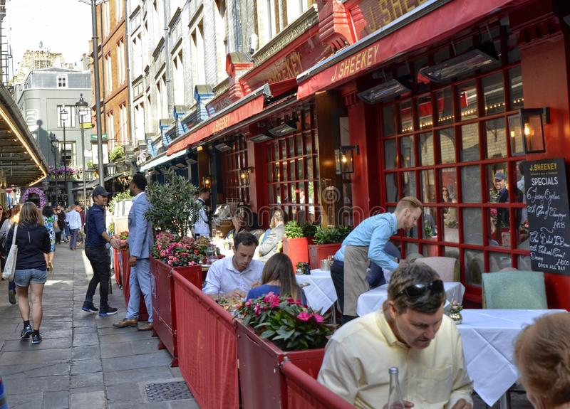One of the many pubs in central London: friends meet to drink beer. London, United Kingdom, June 14 2018. One of the many pubs in central London: friends meet to stock image