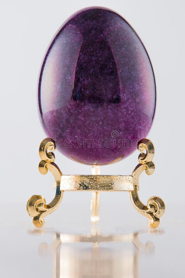 One marble textured stone epensive violet and fashionable easter royalty free stock photo