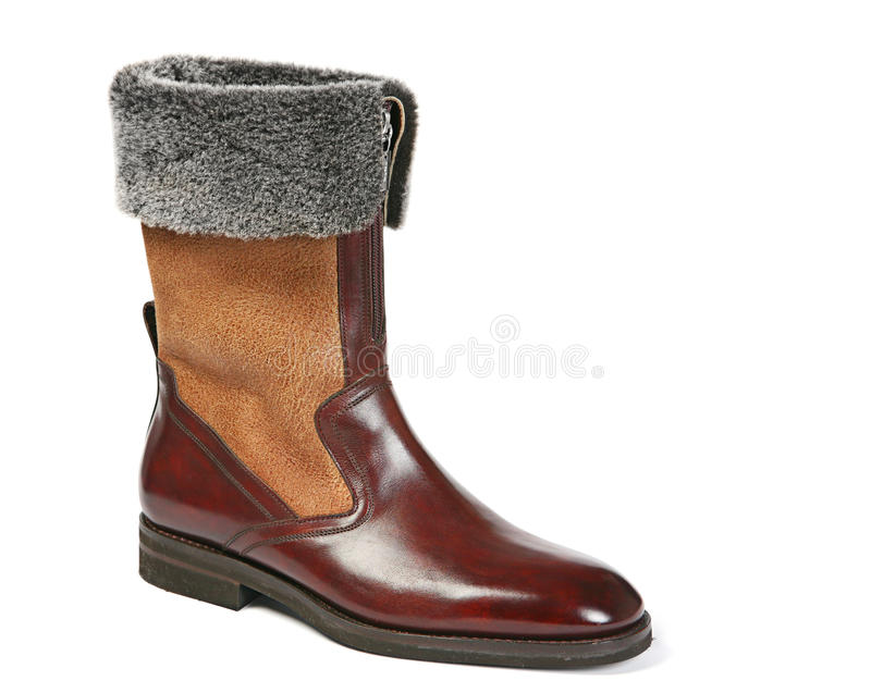 One Men Winter Shoes Stock Images