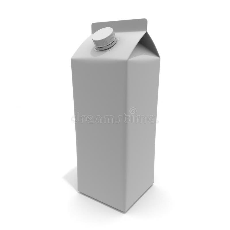 One Milk Carton 3D illustration royalty free illustration