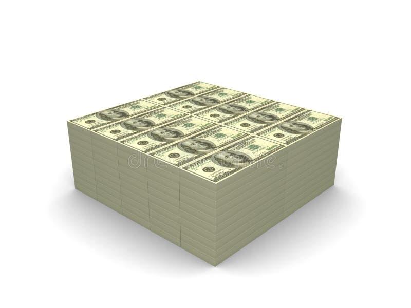 One million dollars vector illustration