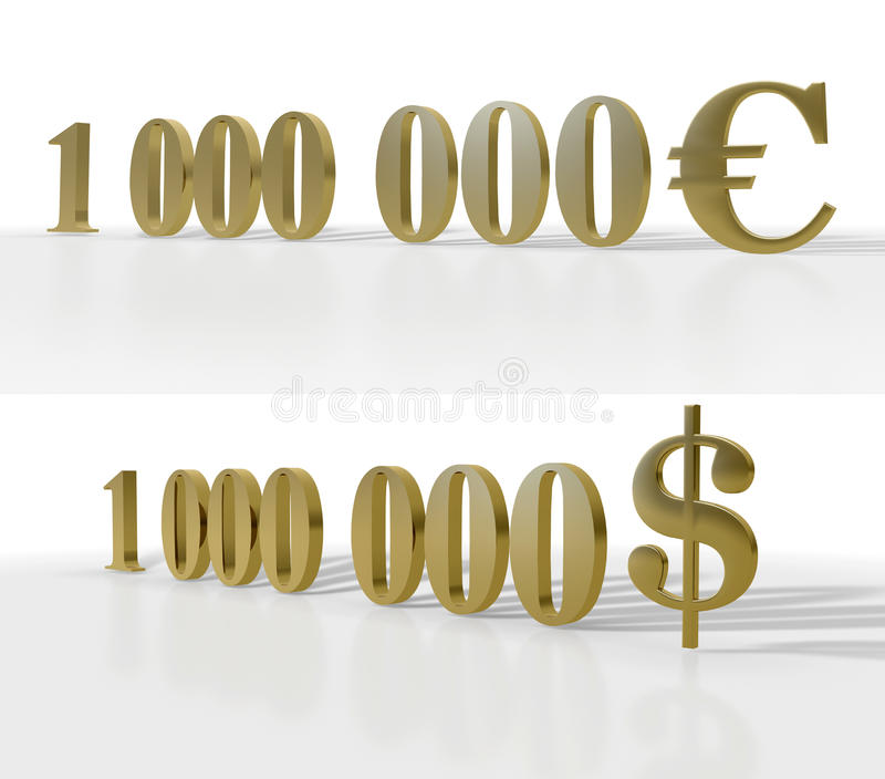 Download One million stock illustration. Image of currency, treasure - 30707598