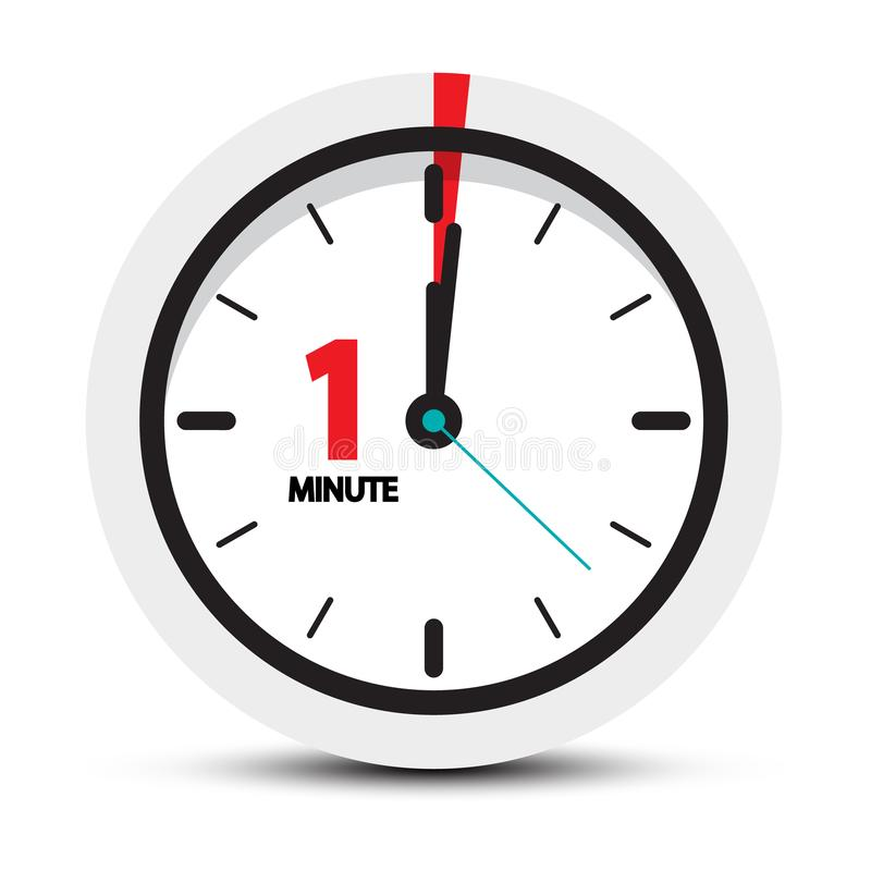 Free One Minute Clock Icon Stock Image - 135868991