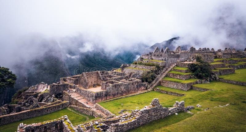 Magical Machu Picchu. One momen in machu Picchu royalty free stock images