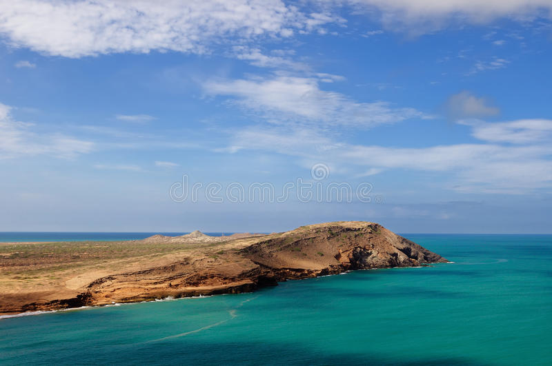 One of an more beautiful pristine Pilon de Azucar beaches in Colombia stock photography