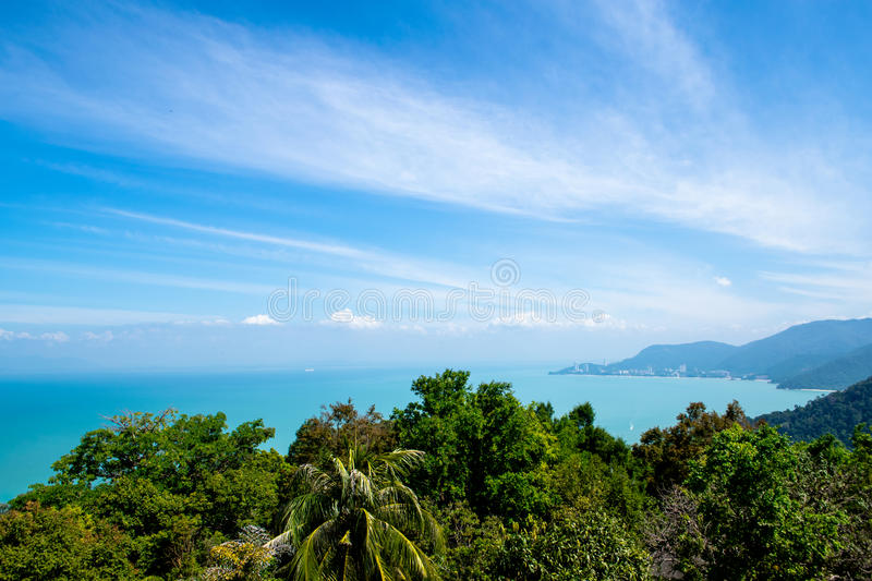 One of the most amazing view on the island and sea, best place for relax stock photos