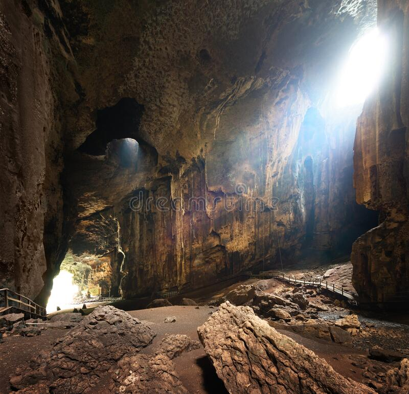 One of most beautiful caves of Borneo Gomantong. Malaysia stock photography
