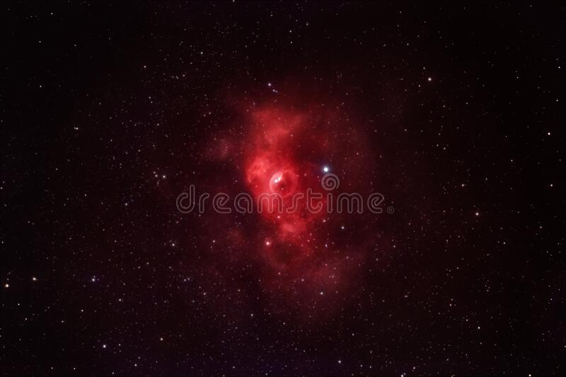 The beauty of our galaxy, Milky Way. NGC7635, the Bubble nebula in Cassiopeia royalty free stock image