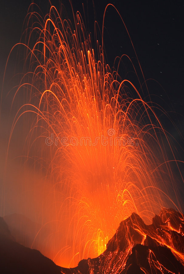 One of my best eruptions royalty free stock photos