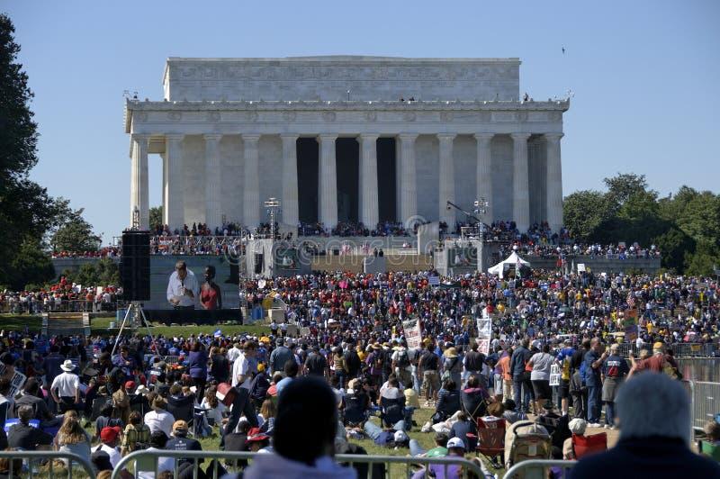 One Nation Rally - Lincoln Memorial, Washington, D stock photos