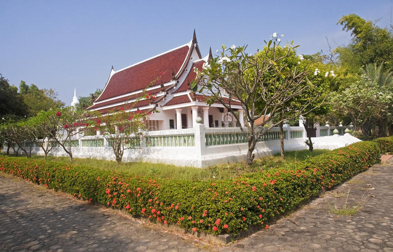 One of the new Buddhist temples in Sukhothai royalty free stock images