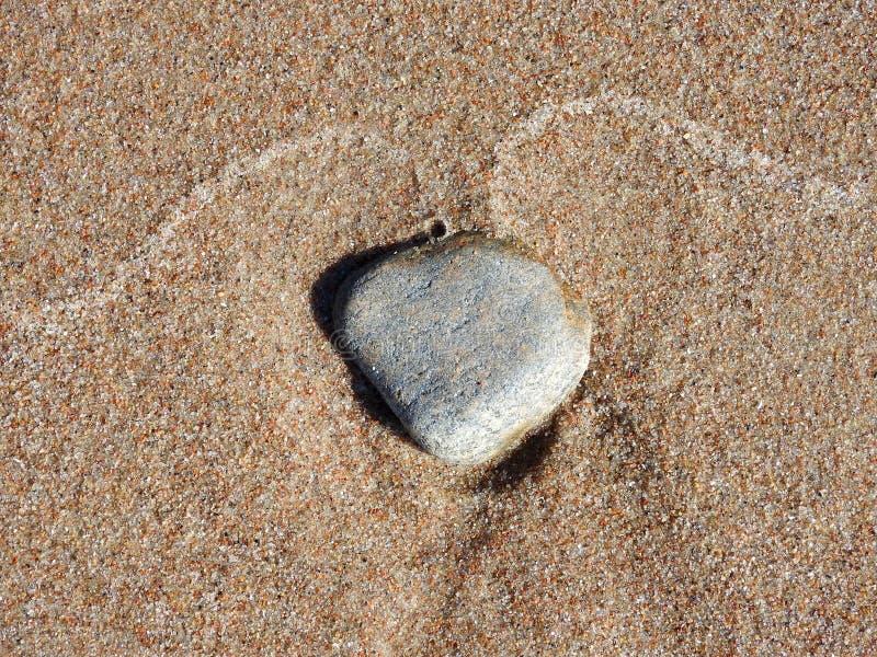 Beautiful stone on Baltic sea coast, Lithuania stock photos