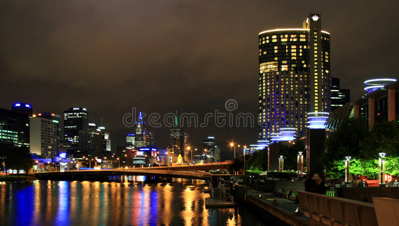 One night in Melbourne royalty free stock photo