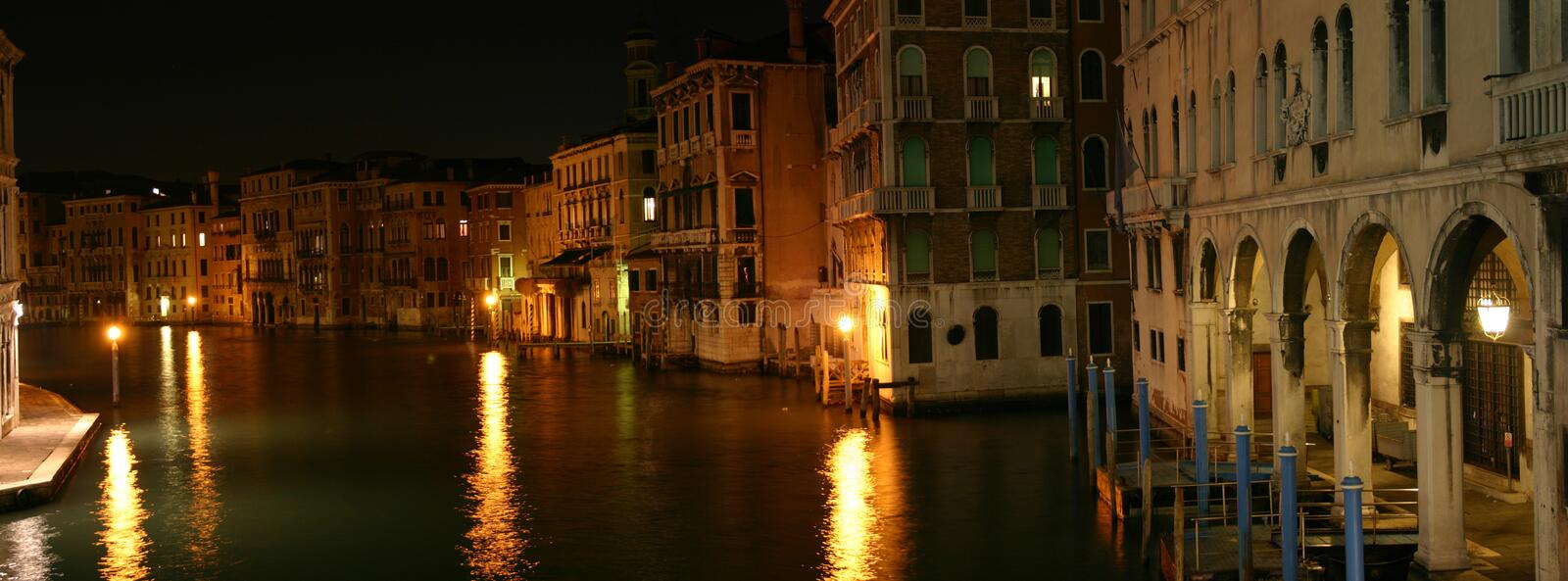 One night in Venice. royalty free stock image