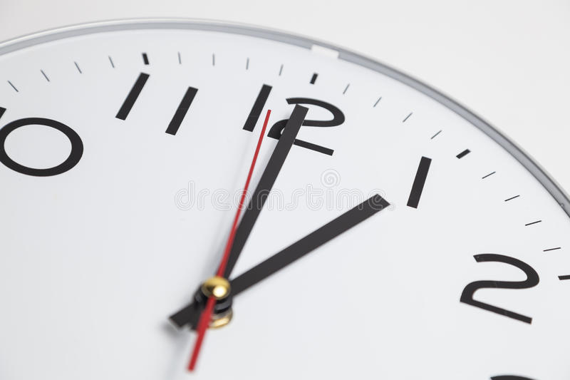 One o'clock position stock images
