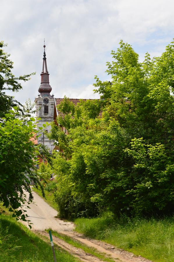 Old churches in the city. One old churches in the city royalty free stock images