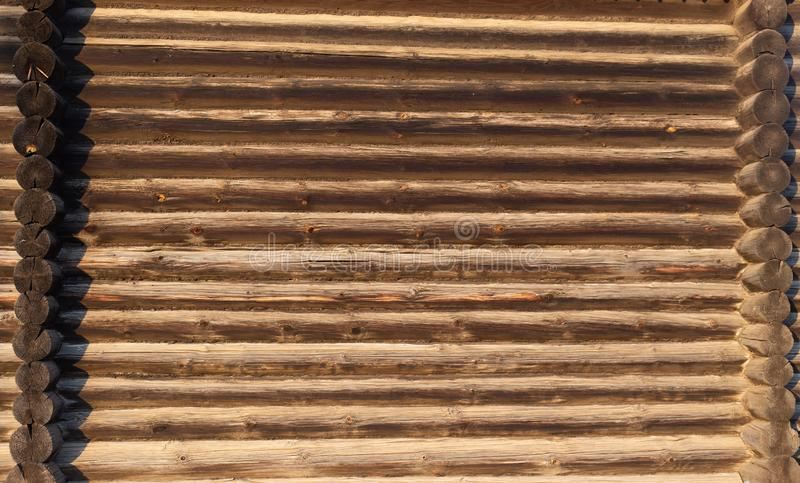 One old log wall stock photo