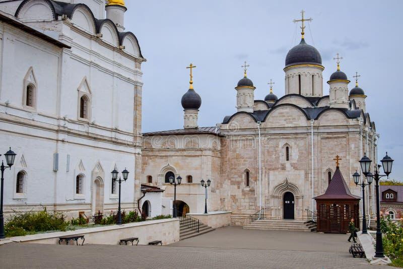 Vladychny Monastery in Serpukhov stock images
