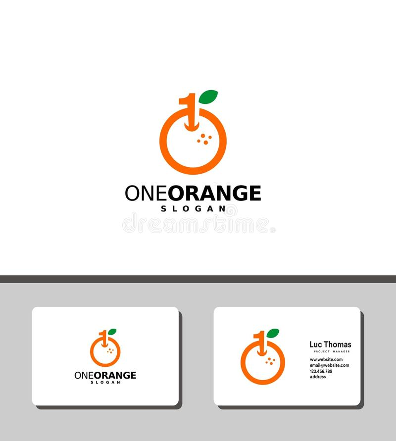One orange logo royalty free stock image