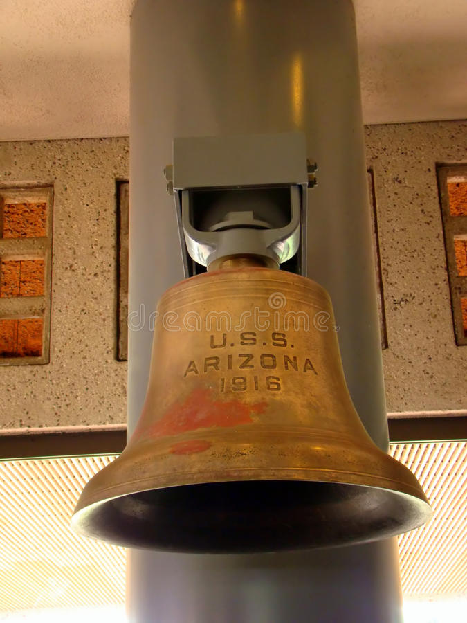 One of the original USS Arizona bells, Pearl Harbor royalty free stock photography