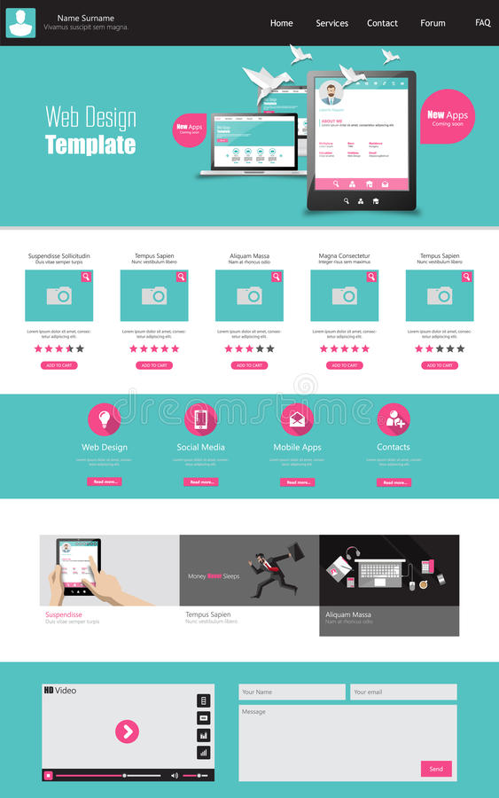 One page business website template home page design clean and download one page business website template home page design clean and simple vector cheaphphosting Gallery