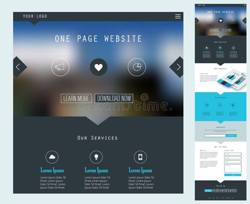 One Page Website Design royalty free illustration