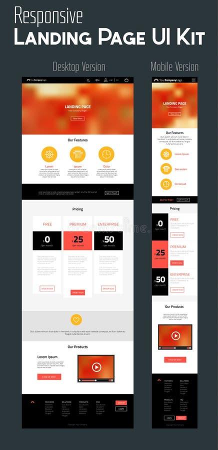 One Page Website Design vector illustration