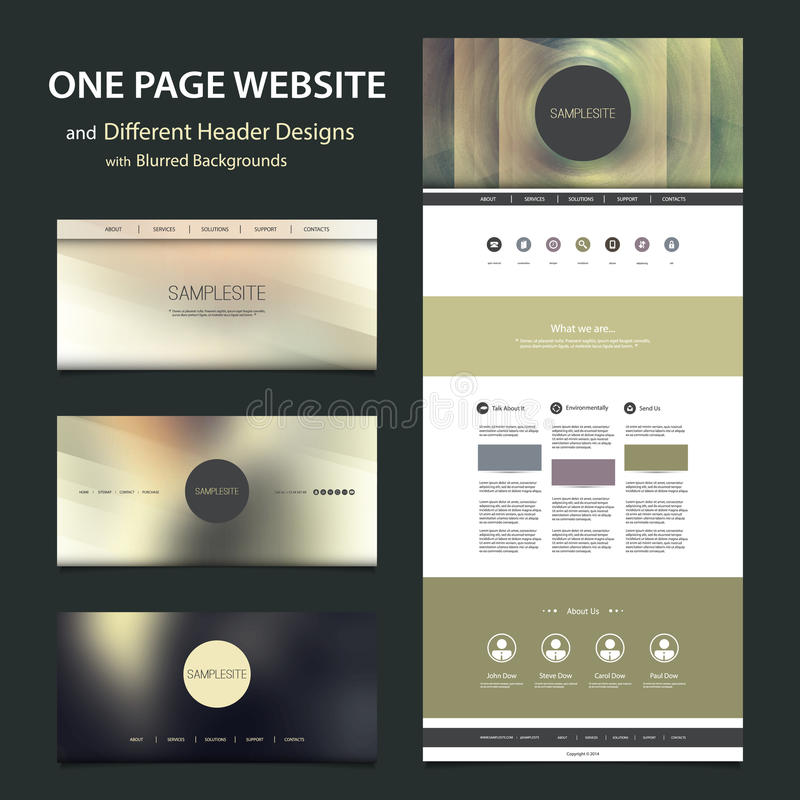 design website backgrounds one page website template and different header designs with