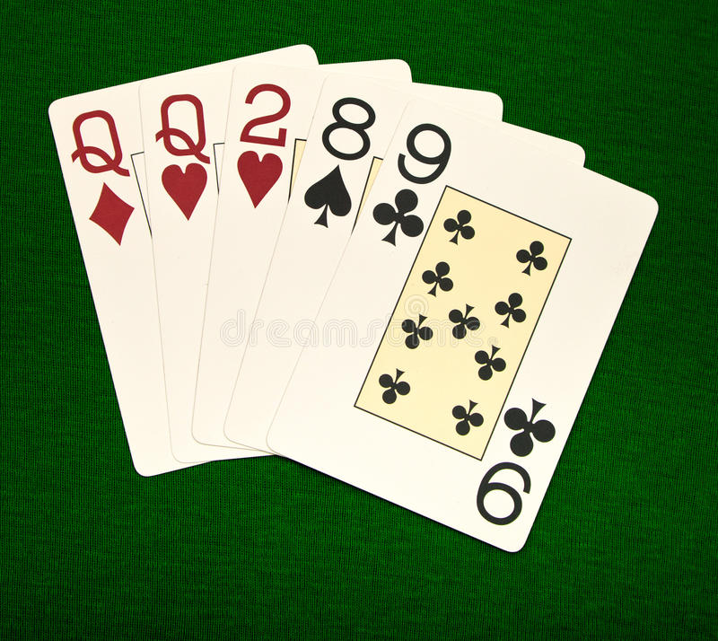 Download One Pair stock image. Image of texas, green, vegas, card - 26450555