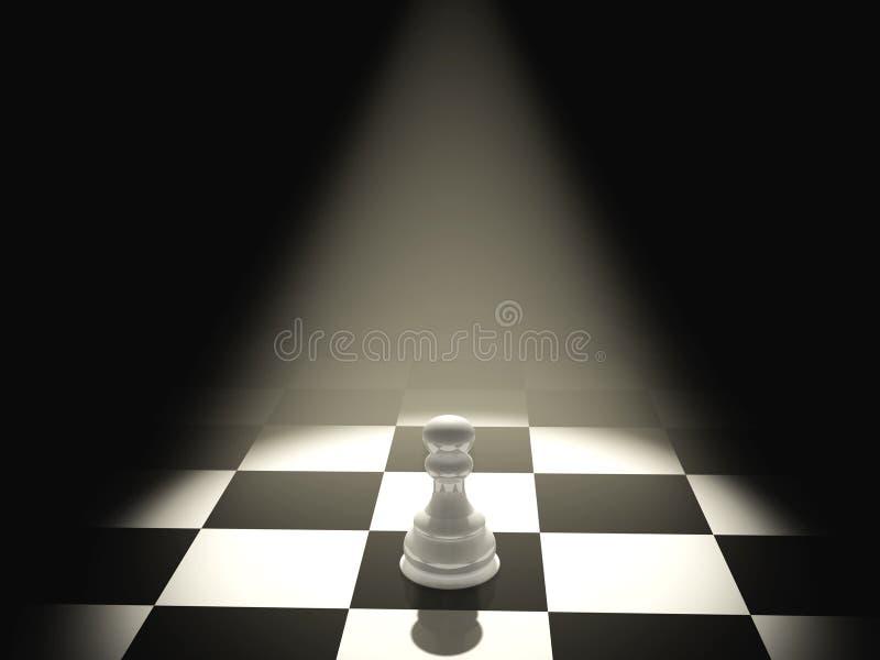 One pawn stock illustration