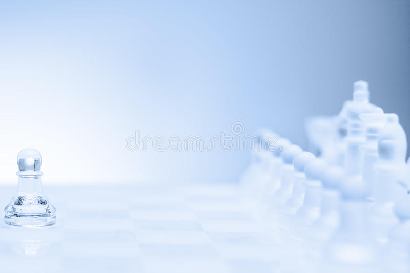 One Pawn No Pawn. Royalty Free Stock Photography