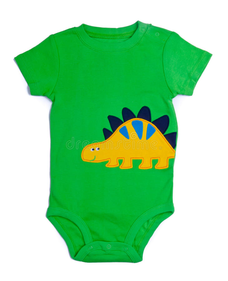 Free One Piece Green Baby Onesie Outfit Stock Images - 26536194