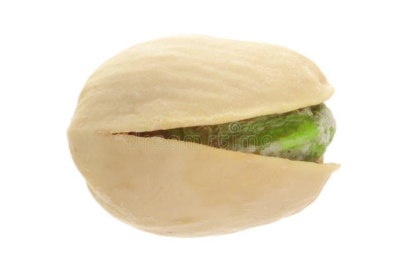 One pistachio isolated on white background close-up macro stock images