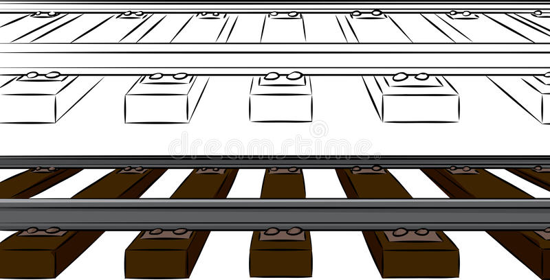 Download One Point Railroad Tracks stock vector. Image of vector - 28755215