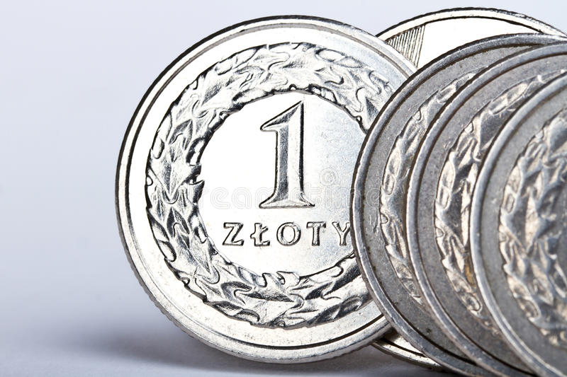 One Polish Zloty Coins Stock Photography