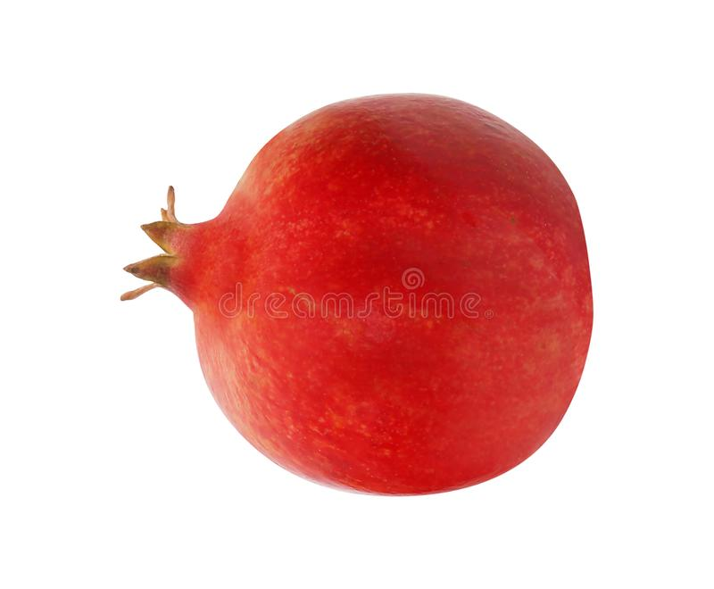 One pomegranate fruit on a white royalty free stock photography