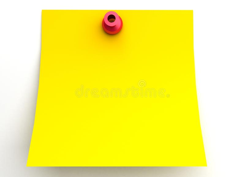 Download One post it stock illustration. Illustration of note - 16718701