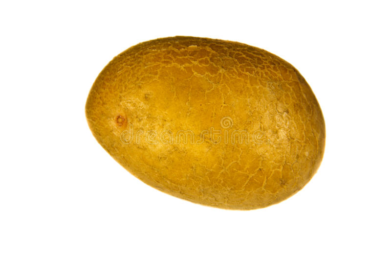 One potato isolated on white background. One potato isolated on the white background royalty free stock photos