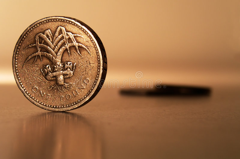 One pound sterling royalty free stock photo