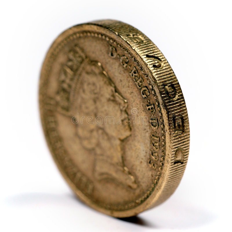 One pound sterling stock photo