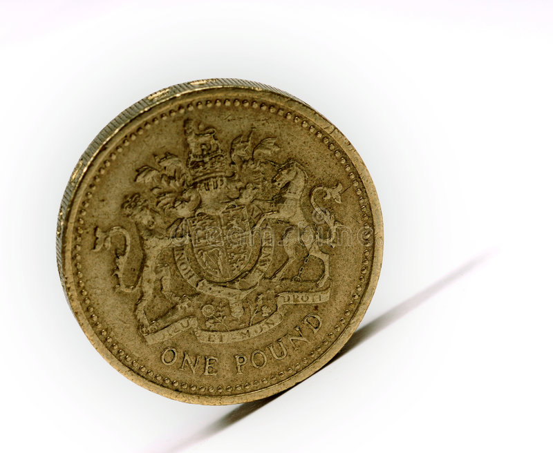 One pound sterling royalty free stock photography