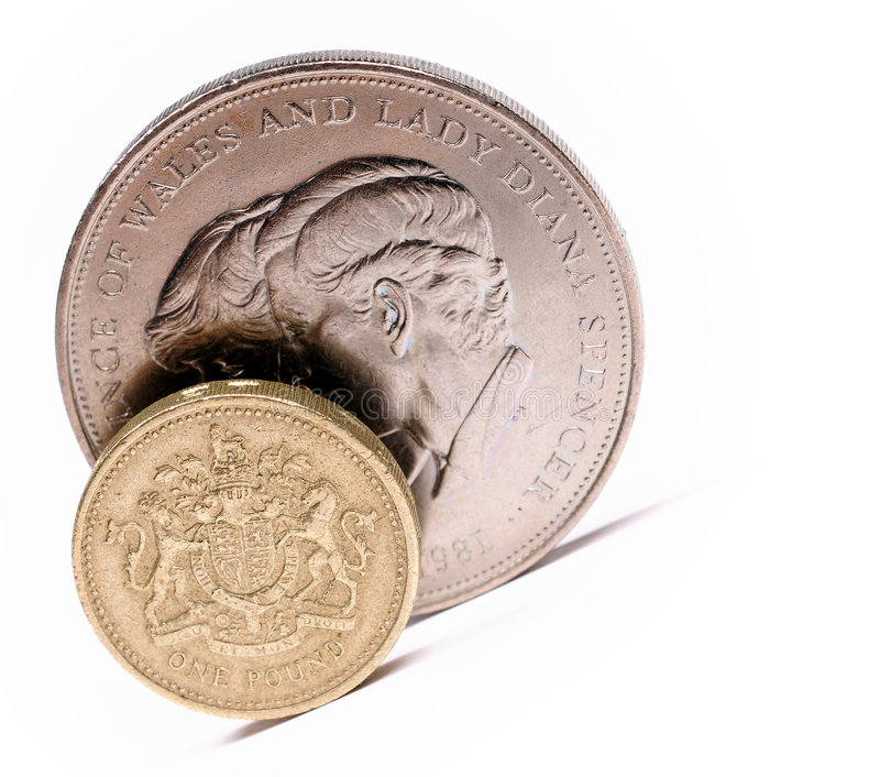 One pound sterling stock photos