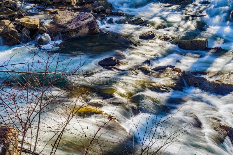 Premier Wild Mountain Trout Stream. One of the premier wild mountain trout stream located in Jefferson National Forest, Giles County, Virginia, USA royalty free stock images