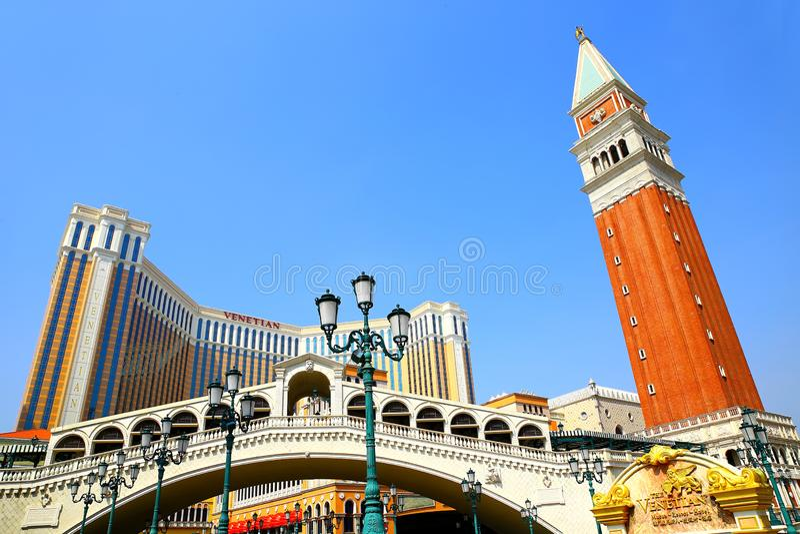 Venetian hotel and casino, macau stock photos