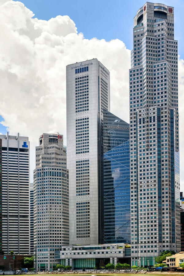 One raffles place and uob plaza building in singapore skyline download one raffles place and uob plaza building in singapore skyline editorial photography image of reheart Image collections