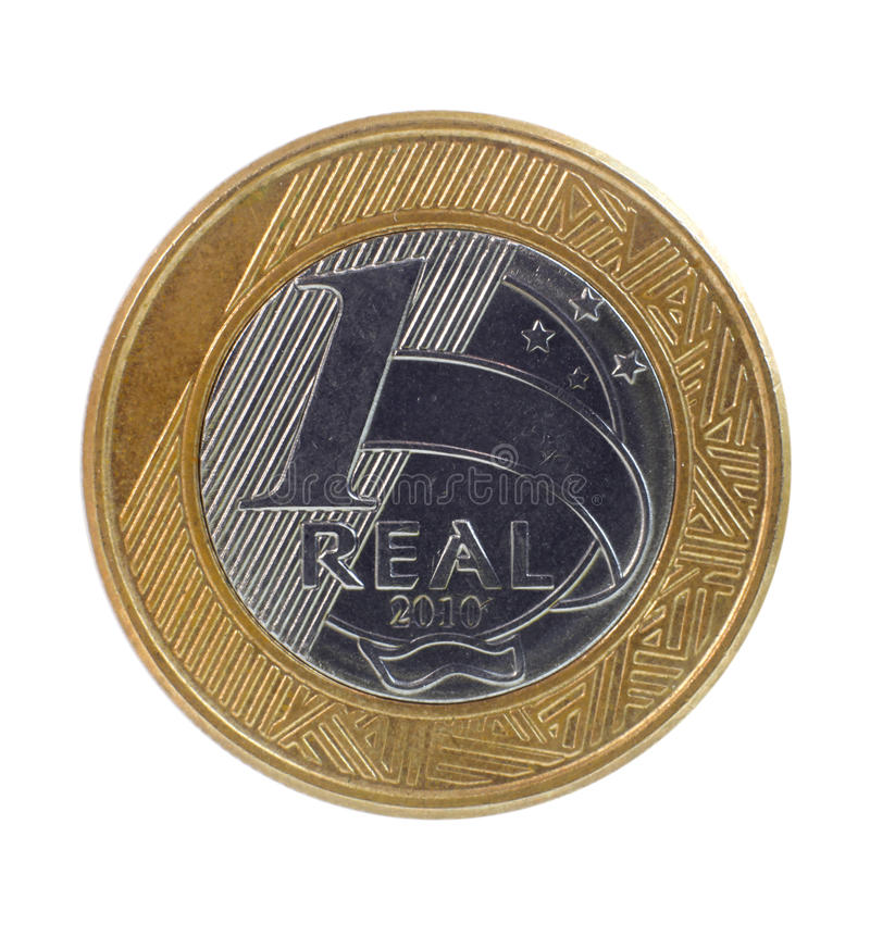 One Real coin royalty free stock photos