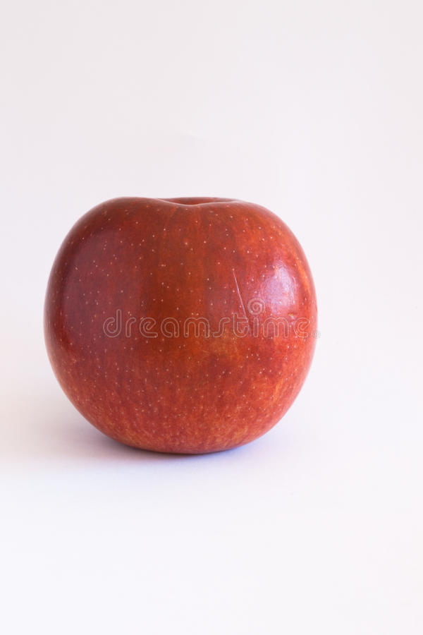 One red apple stock photos