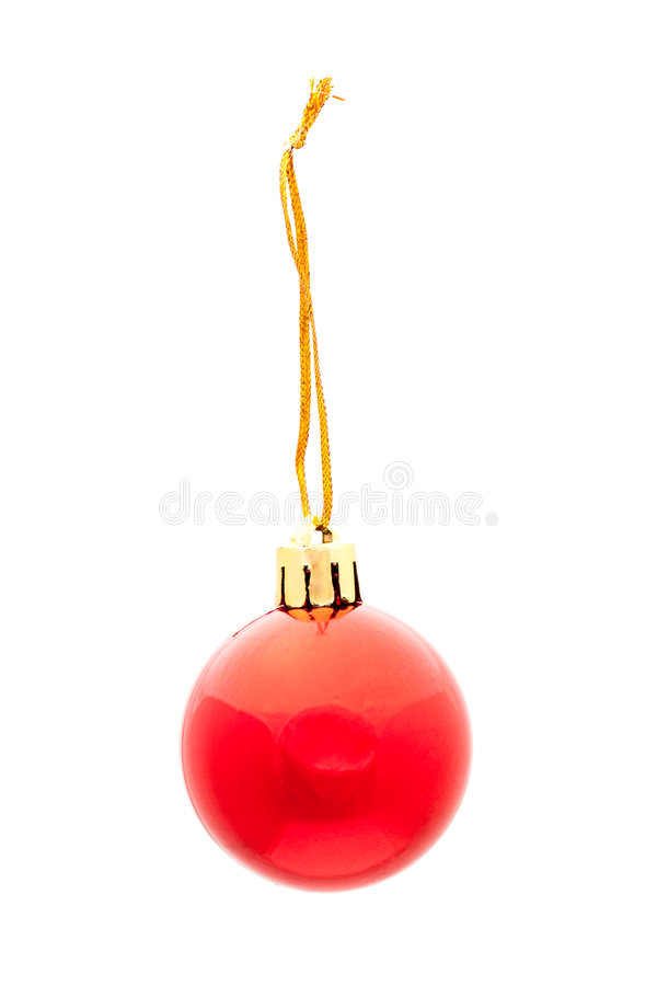 Download One red isolated xmas ball stock image. Image of round - 6515021