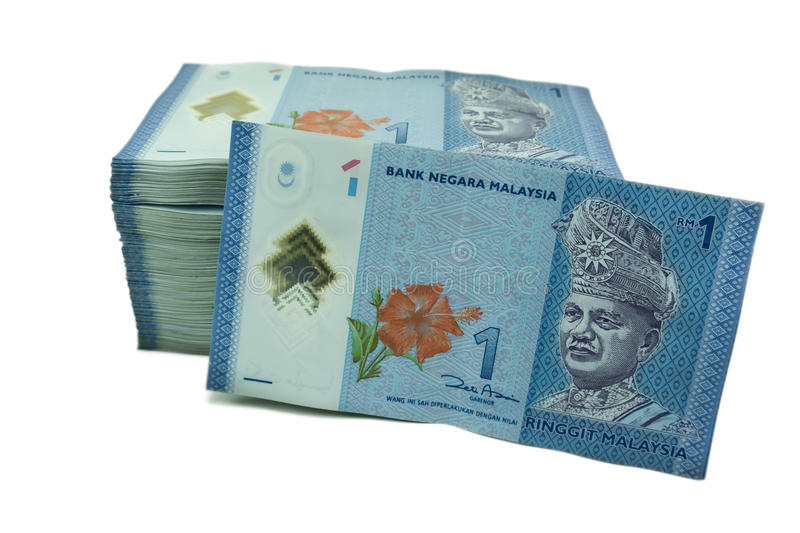 One Ringgit Currency Notes royalty free stock image